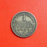 Altdeutschland: 1 Silber Groschen Preussen 1851-A, #F 2422. Wilhelm IV.