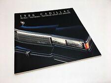 1986 Cadillac De Ville Fleetwood Seventy Five Limousine Brochure