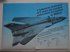 10/1974 PUB AERITALIA MRCA PANAVIA TORNADO ITALIAN AEROSPACE ORIGINAL FRENCH AD