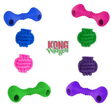 KONG Widgets Dog Chew Toy Bone Ball Braided Treat Dispensing