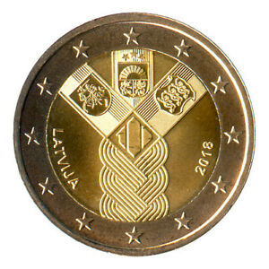 Sondermünzen Lettland: 2 Euro Münze 2018 Baltische Staaten Sondermünze
