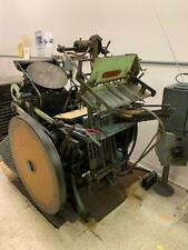 Kluge Letterpress 11x15 with 4 Chases still powered up running condition!