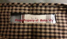NEW Longaberger TALL KEY Over-the-Edge Basket LINER in KHAKI CHECK Fabric- RARE