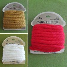 Vintage Hallmark Yarn Gift Tie Hair Ribbon Brand New Choice red gold white $5 ea
