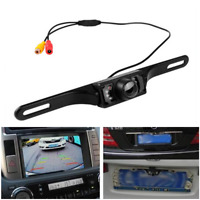 7LED Car Rear View Reversing Camera Back Up License Number Plate Night Vision