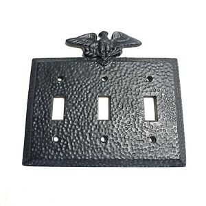 Vintage Edmar Eagle Metal Wall Switch Plate Light Switch Plate Cover Black