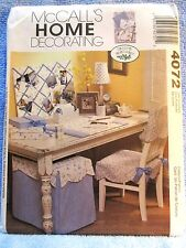 McCalls Home Decorating Pattern 4072 Business Attire Home Office Uncut 2003