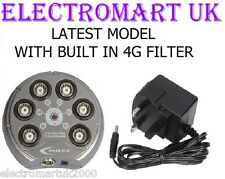 Freeview Tv Digitale Antenna Amplificatore Ripetitore di segnale 6 VIE 4g filtro integrato