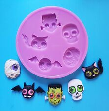 HALLOWEEN GHOULS SILICONE MOULD FOR CAKE TOPPERS, CHOCOLATE, CLAY ETC