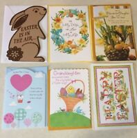 Lot of 6 American Greetings Easter Cards Assorted New Cards -Crafts-Scrapbook