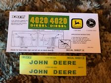 Decal for John Deere 4020 Diesel Pedal Tractor - new NOS by Ertl