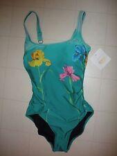 GOTTEX Multicolor Floral 1 Piece Tank Style Swimsuit Sz 12 NWT