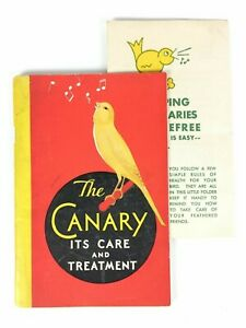 Vintage 1931 French's Pet Supplies Canary Care and Treatment Booklet