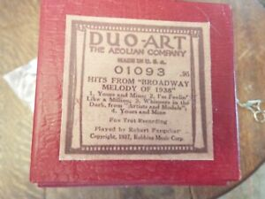 """Duo Art Pianola Roll    Hits From """"Broadway Melody """" 1938    in UK"""