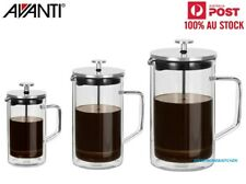 New Avanti Coffee Plunger Double Wall Glass & Stainless Steel 360ml/600ml/1000ml