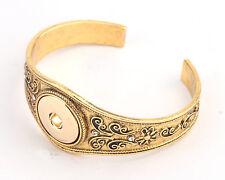 Antiqued Gold Cuff Bracelet (for Noosa, Ginger Snaps, etc.)