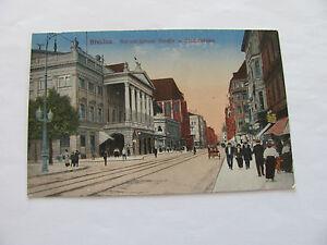 AK  Schlesien Breslau, Schweidnitzerstr. u Stadttheater, ungel 1916