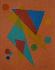 Emil Bisttram 1940 Transcendental Geometric Abstract - Taos New Mexico Modernist