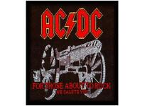 """AC/DC AUFNÄHER / PATCH """"FOR THOSE ABOUT TO"""""""