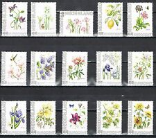 Netherlands complete set of 25 personalized stamps - flowers MNH