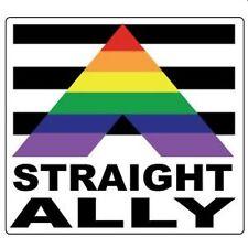Gay Pride Bumper Sticker Straight Ally