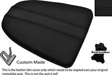 BLACK STITCH CUSTOM FITS APRILIA RSV MILLE 01-04 REAR LEATHER SEAT COVER