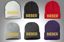 JUSTIN BIEBER, All Color Winter Beanie,You Select Your Colors