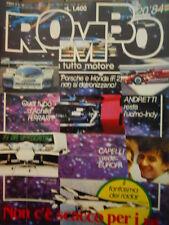 ROMBO 20 1984 Jean Pierre Nicolas Rally Safari Audi Sport Peugeot 205