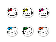 Lot Badge Button Ø25mm Hello Kitty Kawaii Japon Paradise Girl Pink Rose