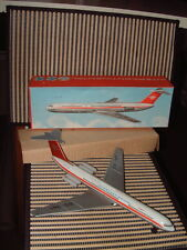 RARE NOS FRICTION DRIVEN TIN AIRPLANE (JET) FROM EAST GERMANY (GDR), NEW IN BOX!
