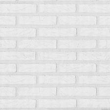 09136-30) 1 Rolle hochwertige Vinyltapete Mauerstein Stein Tapete weiss
