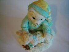 Enesco Calico Kittens Ewe Warm My Heart #628182 Kitty Cat With Lamb 1993