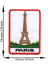 Paris France Eiffel Tower Travel City Nation V01 Applique Iron on Patch Sew