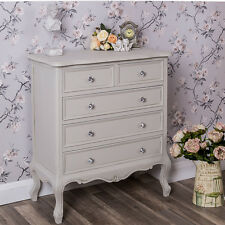 French Country Style Shabby Chic Bedroom Chest Cabinet 5 Drawers Vintage  Antique