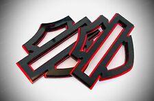 Emblema Fregio Harley Davidson BAR & SHIELD coppia adesivi in plexiglass