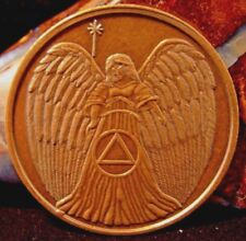 Guardian ANGEL Bronze Alcoholics Anonymous AA Medallion Chip Token Coin Sobriety