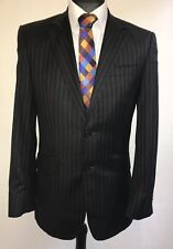MS2035 ST GEORGE BY DUFFER MEN'S STRIPED BLACK BLAZER JACKET SIZE 38R