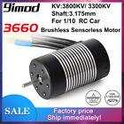 3660 Waterproof Brushless Sensorless Motor 3800KV 3300KV for WLtoys 1/10 RC Car