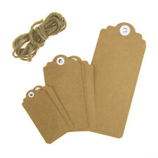 Kraft Paper Hang Tags with Twine, Natural, 9-Piece