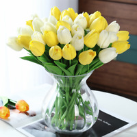 Artificial Tulips Flower Latex Real Touch Bridal Bouquet For Home Wedding Decor
