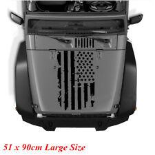 Large Size 20''x35'' Black USA Flag Style Car Hood Window Graphics Decal Sticker