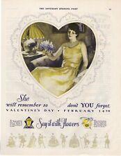 1929 Original Vintage Ftd Flowers Magazine Ad