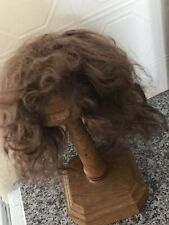 "Antique Dolls Mohair Wig Brown  Cap Size 11/12"""