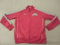 Mens Nike Ohio State Buckeyes Jacket XL Red Athletic Gym Workout
