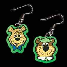 Funky BOO-BOO YOGI BEAR EARRINGS-Cartoon Character Charm Novelty Costume Jewelry