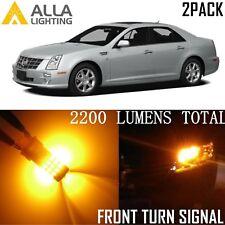 Alla Lighting Turn Signal Light 3757AK Amber LED Bulb Blinker Lamps for Cadillac