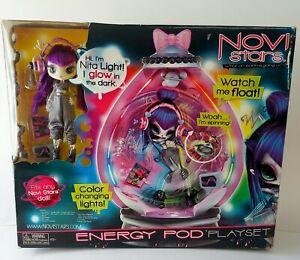 Novi Stars Energy Pod w/Nita Light Glow in Dark Doll MGA Alien Space Toy Playset