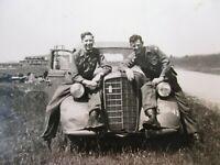 WWII US Army Photo Captured Staff Car GI Soldiers WW2
