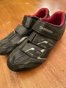 SHIMANO SH-XC30L Mens Black & Red Size US 10.5 EU 45 Cycling Shoes CLIP IN