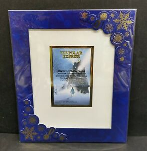 """The Polar Express Magnetic Picture Frame Keepsake 8"""" x 10"""" / 5"""" x 7"""" NEW"""